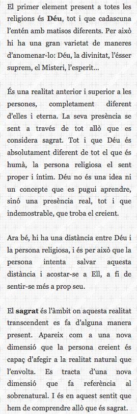 ampliació definició religió text