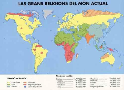 religions al món