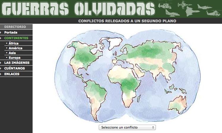 mapa guerres oblidades