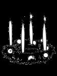 dibuix corona espelmes