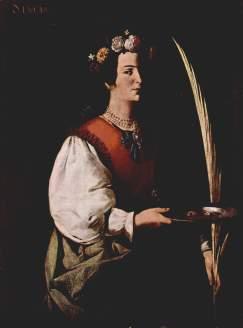 foto santa llucia Francisco de Zurbarán