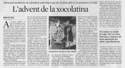 premsa advent xocolatina